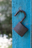 Old metal lock Stock Photography