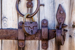 The old metal lock Royalty Free Stock Photo