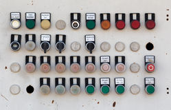 Old metal machine control panel Royalty Free Stock Photos