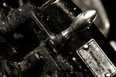Old metal machine tool Royalty Free Stock Photo