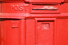 Old metal mail box. Old metal red mail box Royalty Free Stock Photos