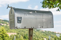 Old metal mailbox Royalty Free Stock Photos