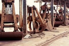 Mechanical crane claw Royalty Free Stock Images
