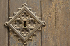 Old metal medieval door background Stock Image
