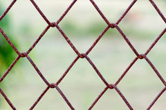 Old metal mesh wire fence Royalty Free Stock Photos