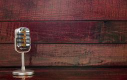 Old metal microphone Royalty Free Stock Image
