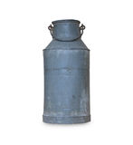 Old metal milk can Stock Image