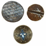 Old metal nail and rusty Screw heads isolated Stock Photography