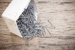 Old metal nails Stock Photography