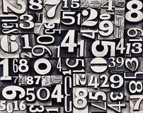 Old metal numbers. Image with old metal numbers Royalty Free Stock Photos