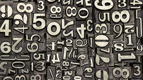 Old metal numbers. Close up royalty free stock image