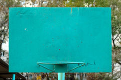Old metal painted basketball backboard. Old metal painted basketball backboard on street playground Royalty Free Stock Photos