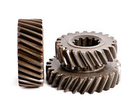 Old metal parts gear Stock Photo