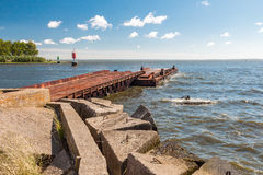 AN OLD METAL PIER Royalty Free Stock Photos
