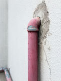 Old metal pipe for fire hydrant. Stock Photos