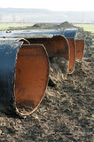 Old metal pipes dismantled for scrap Stock Photos