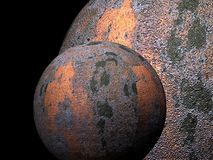 Old metal planets 3 Stock Photo