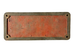 Old metal plate Stock Photo
