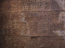 Old Metal Plate. From an ancient door to a fortress in Aquaba, Jordan. Good background shot royalty free stock image
