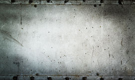 Old metal plate Stock Image
