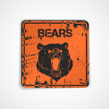 Old metal plate with bear Royalty Free Stock Images