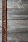 Old Metal Plate on Wood Stock Image