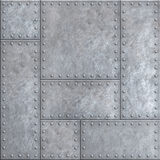 Old metal plates with rivets seamless background or texture Royalty Free Stock Photography