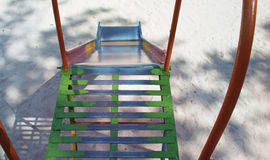 Old metal playground slde Stock Images
