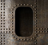 Old metal porthole background Stock Images