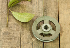 Old metal pulley Royalty Free Stock Photo