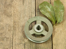 Old metal pulley Royalty Free Stock Photography