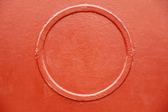 Old metal red circle background texture Royalty Free Stock Images