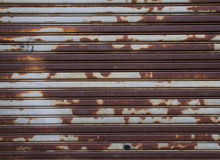 Old metal roller shutter door Royalty Free Stock Photos