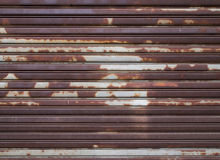 Old metal roller shutter door Stock Photo
