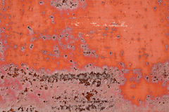 Old metal rusty background with cracked paint. Royalty Free Stock Images