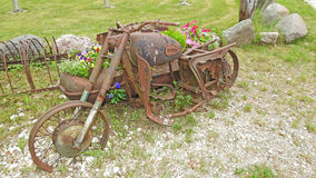 Old metal rusty bike Royalty Free Stock Images