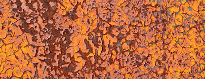 Old metal rusty with cracked paint with vignette. Royalty Free Stock Images