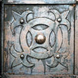 Old metal and rusty door Royalty Free Stock Images