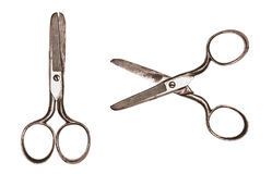 Old Metal Scissors Stock Photo