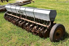 Old Box Seed Grain Drill Stock Photo Image Of Vintage