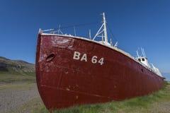 Old metal ship Patreksfjordur Stock Photos