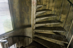 Old metal spiral staircase Stock Image