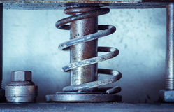 Old metal spring press Royalty Free Stock Photo