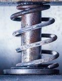 Old metal spring press Stock Photo