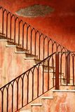 Old metal staircase Stock Photo