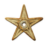 Old Metal Star Stock Photo