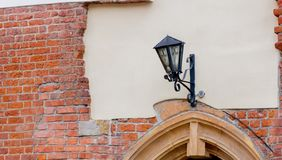 Old metal street lamp in a day time royalty free stock image