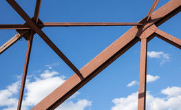 Old metal structures  truss Royalty Free Stock Photos