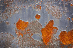 Old metal surface  with cracked paint. Stock Image