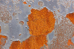 Old metal surface  with cracked paint. Stock Images
